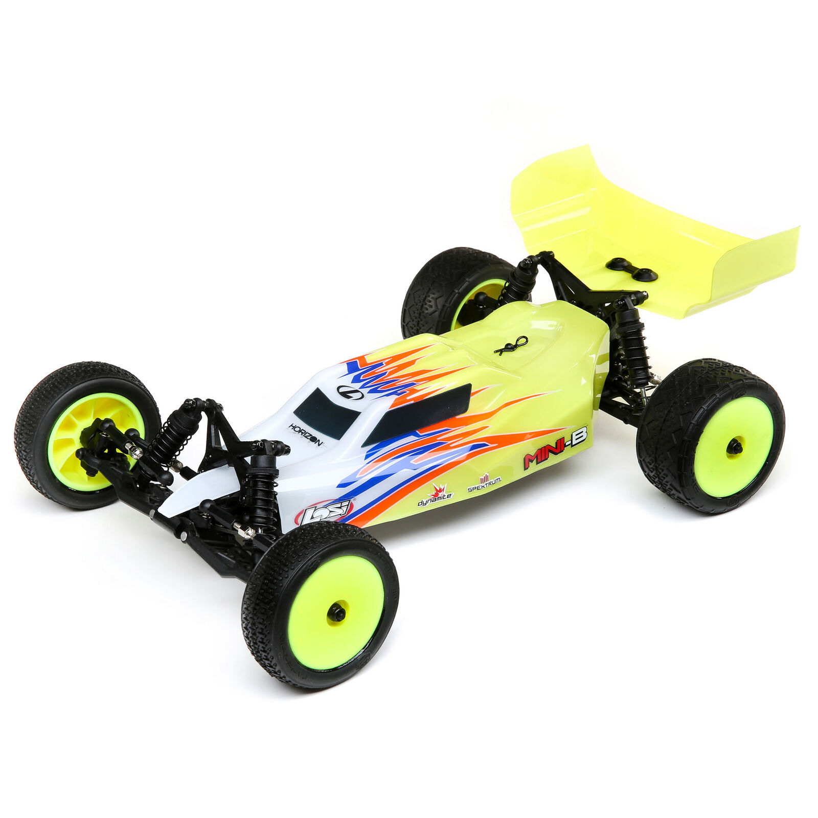 1/16 Mini-B Brushed RTR 2WD Buggy, Yellow/White
