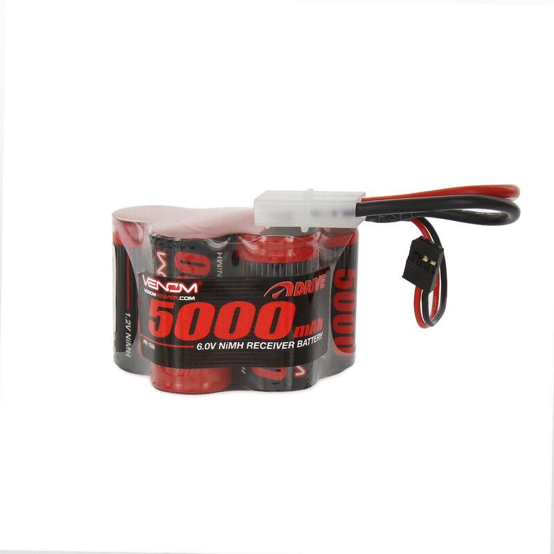6.0V 5000mAh 5-Cell DRIVE NiMH Hump Reciever Battery: Universal Receiver