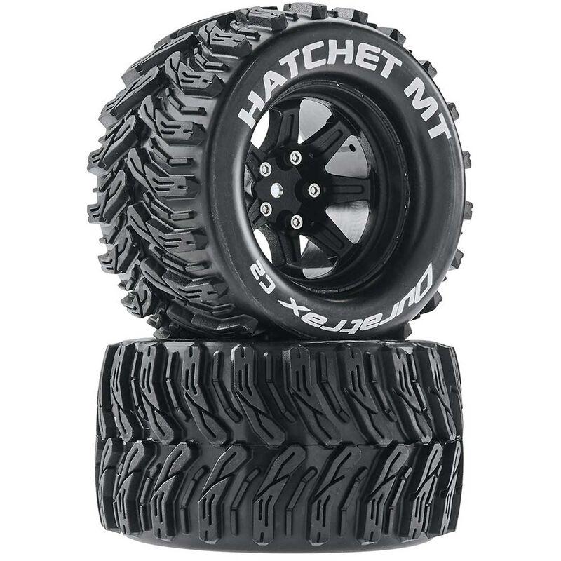 Hatchet MT 2.8 Mounted Tires,Black 14mm Hex (2)