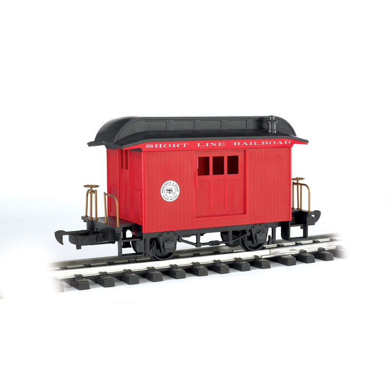 G Li'l Big Haulers Baggage Car, Short Line/Red