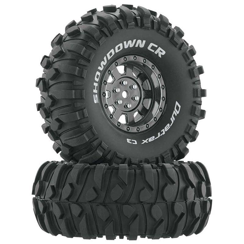 "Showdown CR C3 Mounted 1.9"" Crawler Black Chrome (2)"