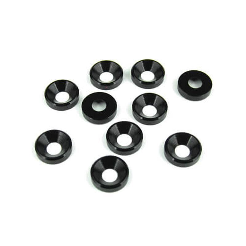 M4 Countersunk Washers, Black Anodized (10pcs)
