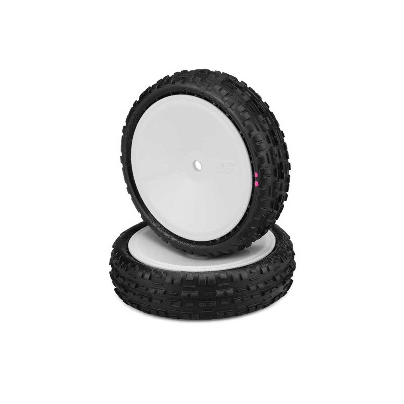Swaggers 2.2 Front Tires, Pre-mounted on 3376W, Pink Compound (2)