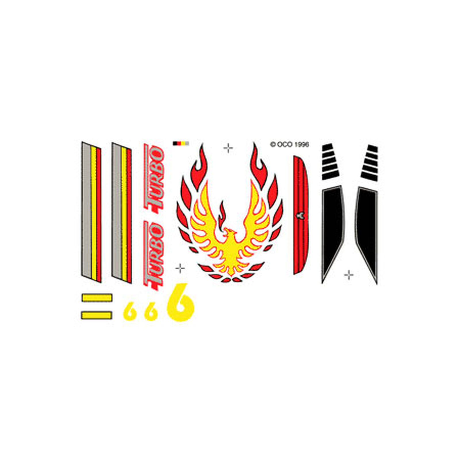 Dry Transfer Decals, Turbo