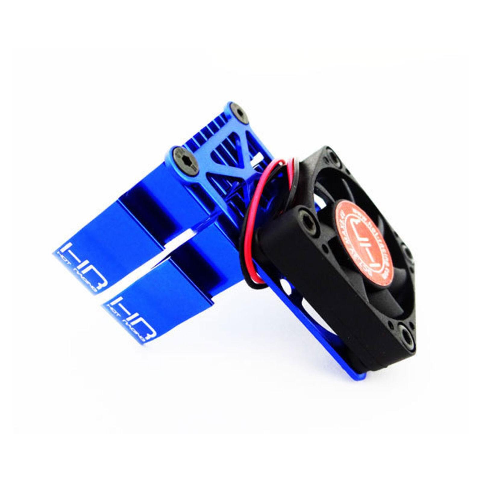 Clip-On Two-Piece Motor Heat Sink with Fan, Blue
