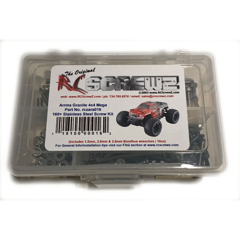 Stainless Steel Screw Set: ARRMA GRANITE 4x4 Mega