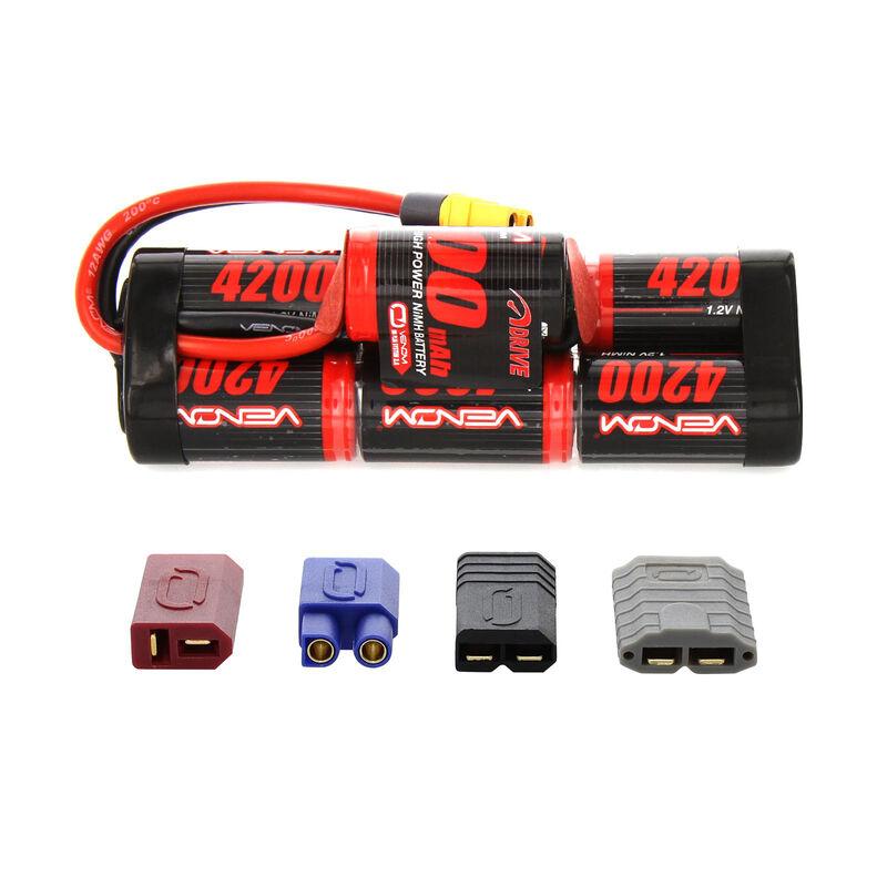 8.4V 4200mAh 7-Cell DRIVE Hump NiMH Battery: UNI 2.0 Plug