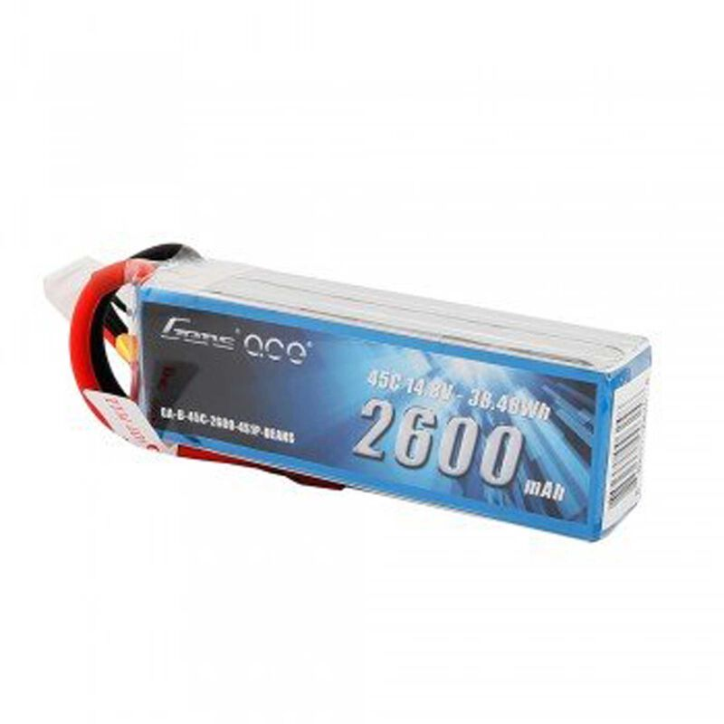 14.8V 2600 Capacity 4S Voltage 45C LiPo, Deans