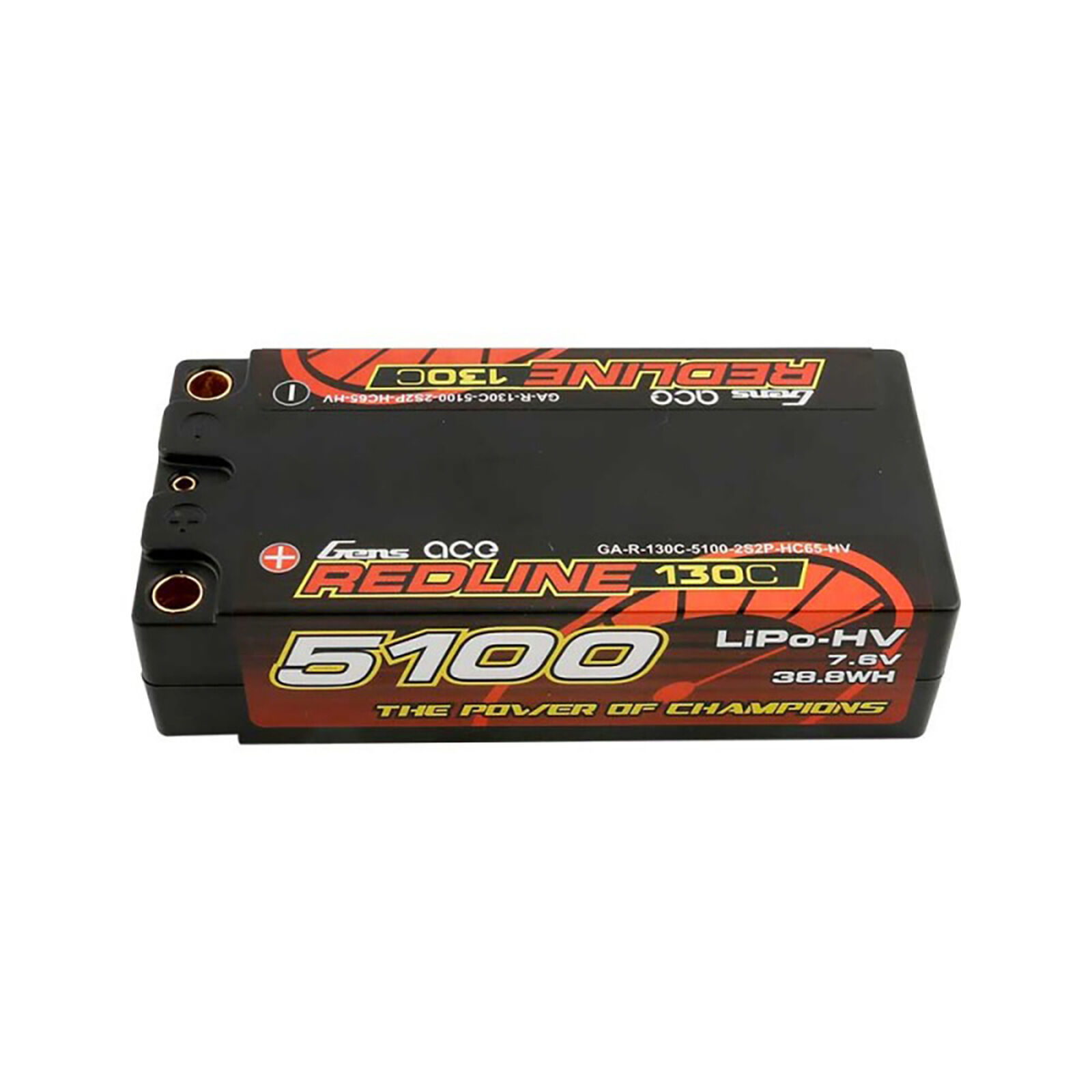 7.6V 5100mAh 2S 130C HV LiPo: 5.0mm Bullet