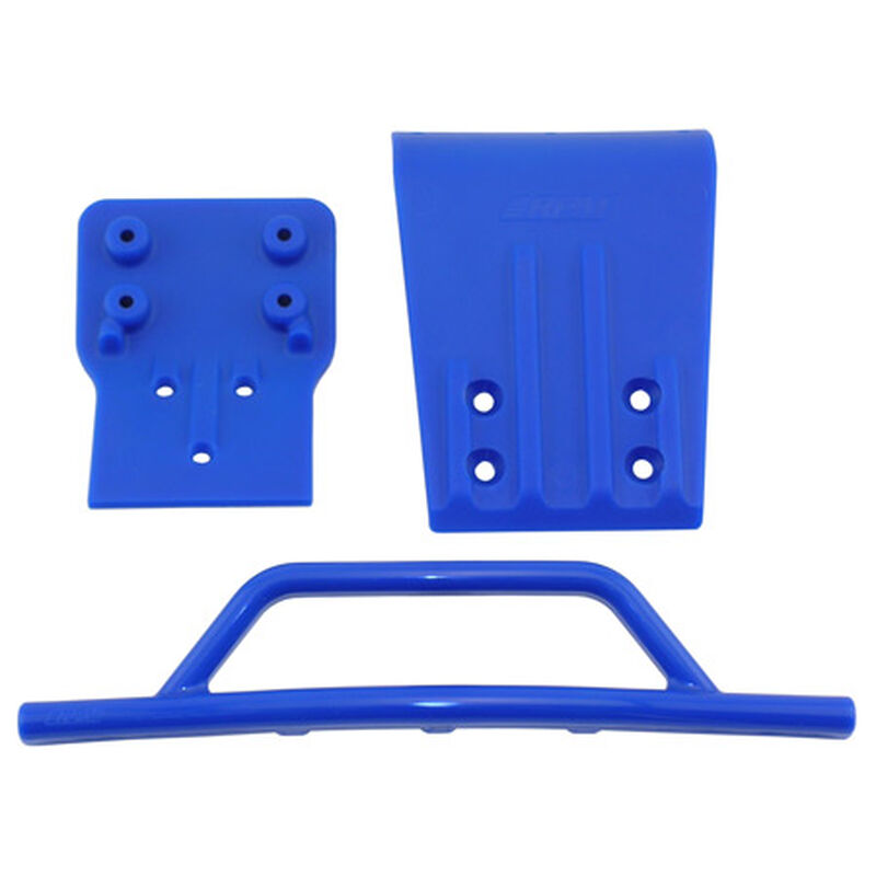Front Bumper/Skid Plate, Blue: SLH 4x4