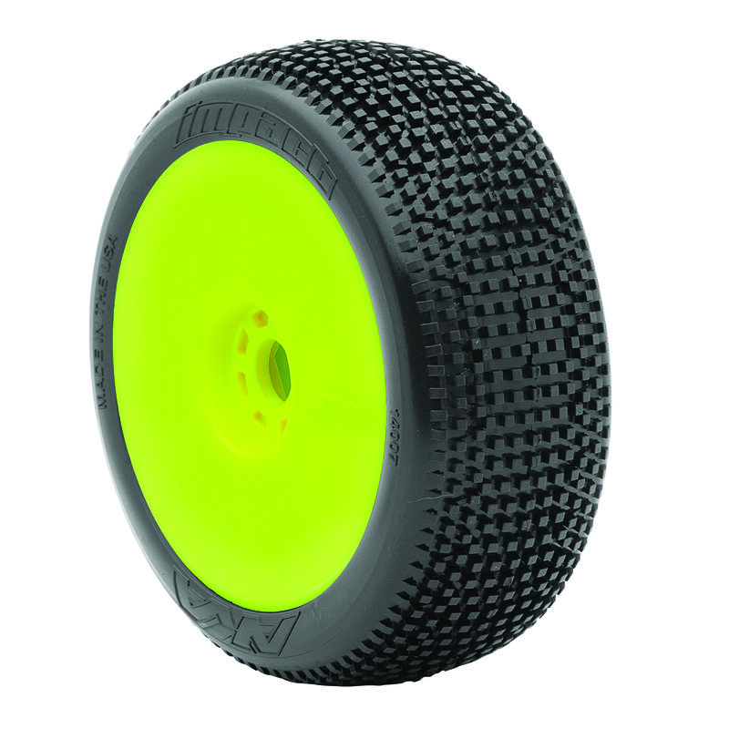 1/8 Impact EVO Soft Front/Rear Wheel Mounted, Yellow: Buggy (2)