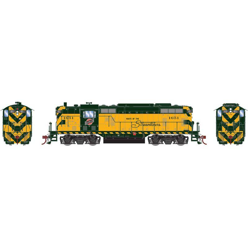 HO GP7 C&NW Passenger #1651