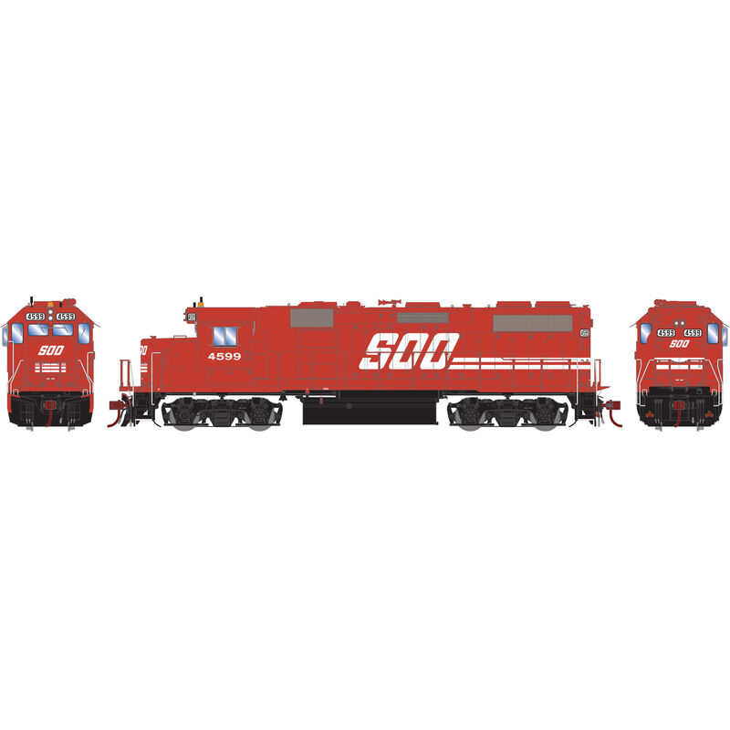 HO GP39-2 with DCC & Sound SOO Red #4599