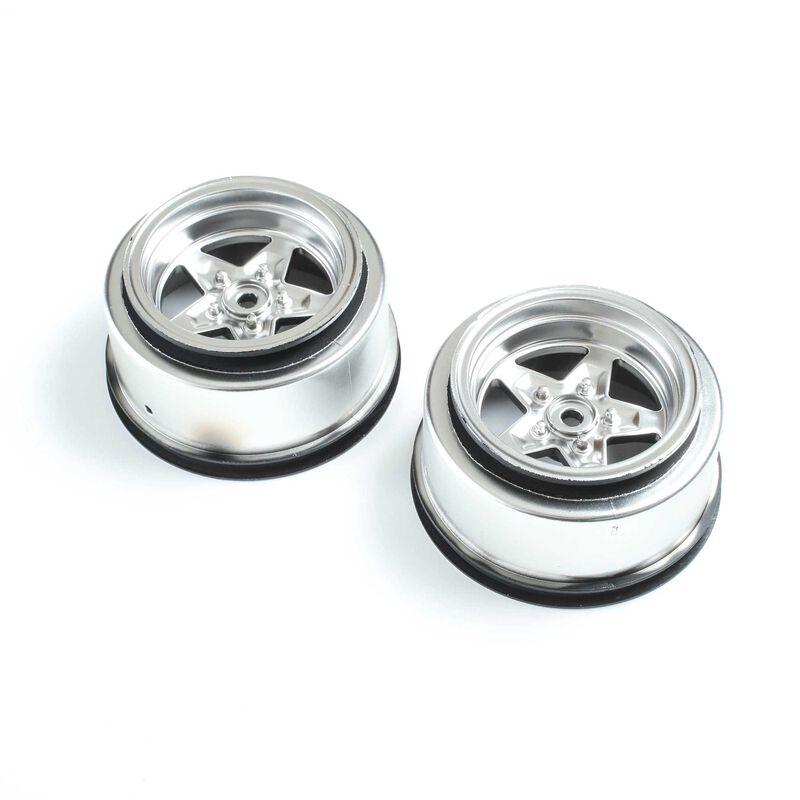 Rear Wheel, Satin Chrome (2): 22S Drag