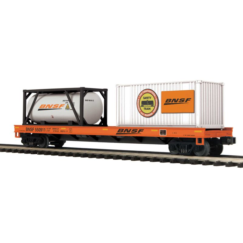 O Flat w Tank Container & 20' Container BNSF