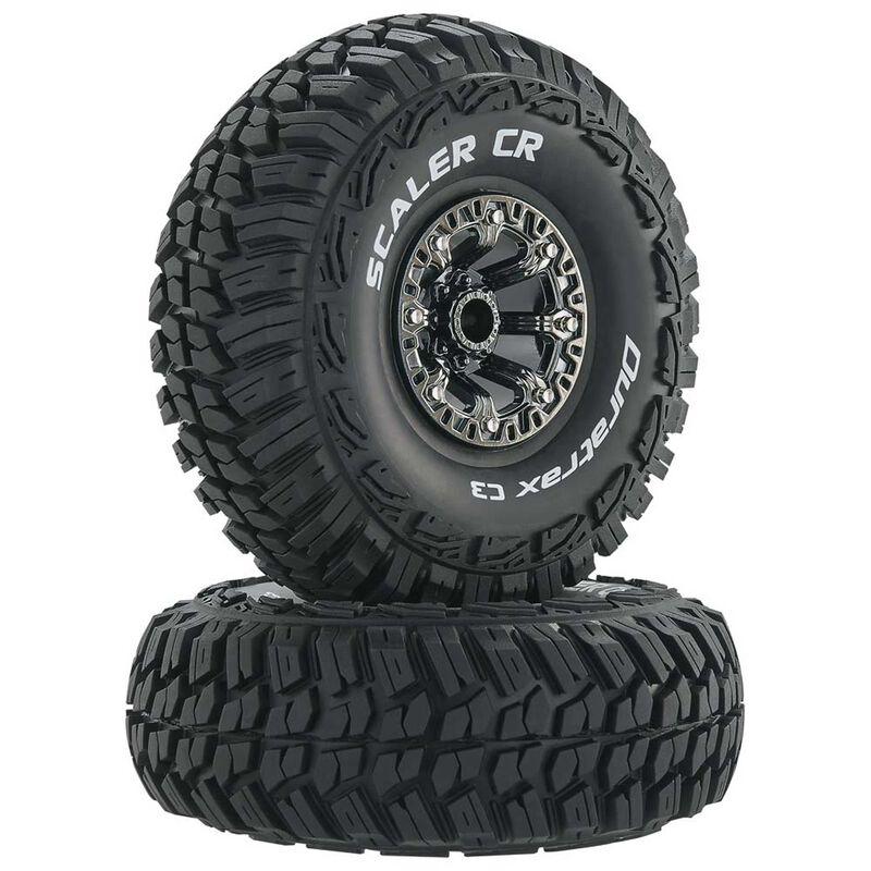 "Scaler CR C3 Mounted 2.2"" Crawler Tires, Chrome (2)"