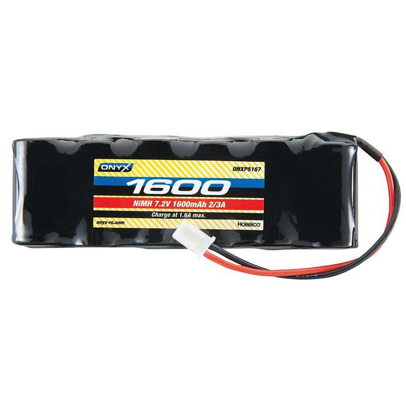 7.2V 1600mAh 2/3A Flat NiMH Battery: XH-1S (Losi Mini Plug)