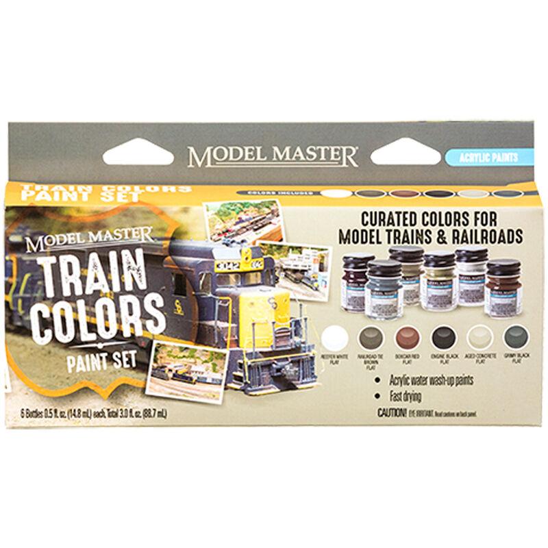 Model Master 6 Color Paint Set, Train Colors