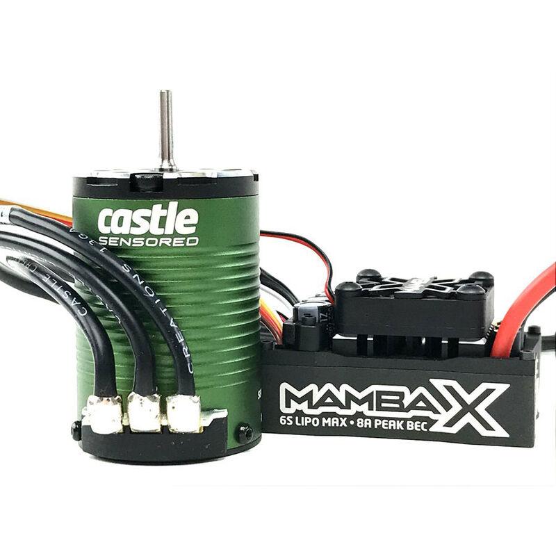 1/10 Mamba X SCT Pro Waterproof ESC/1410-3800Kv Sensored Brushless Motor Combo: 4mm Bullet
