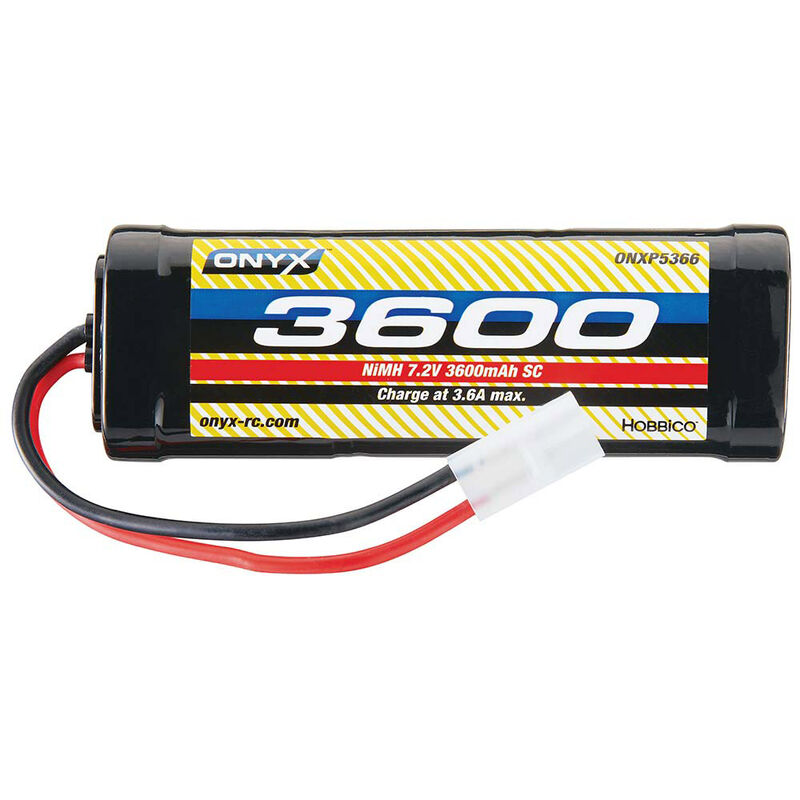 7.2V 3600mAh 6-Cell Sub-C Stick NiMH Battery: Tamiya Connector
