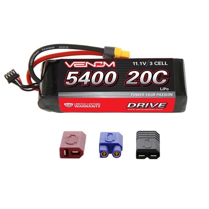 11.1V 5400mAh 3S 20C DRIVE LiPo Battery: UNI 2.0 Plug