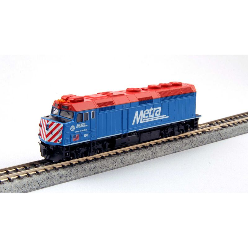 N EMD F40PH Metra with Ditch Lights #160 with DCC
