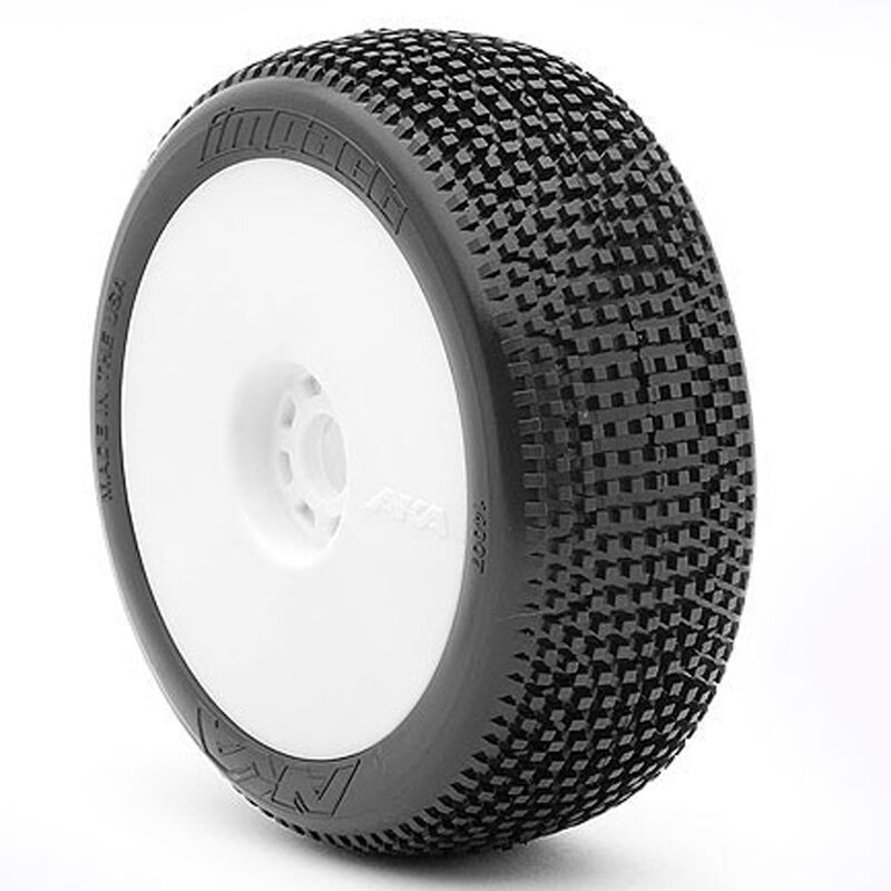 1/8 Impact EVO Soft Front/Rear Wheel Mounted, White: Buggy (2)