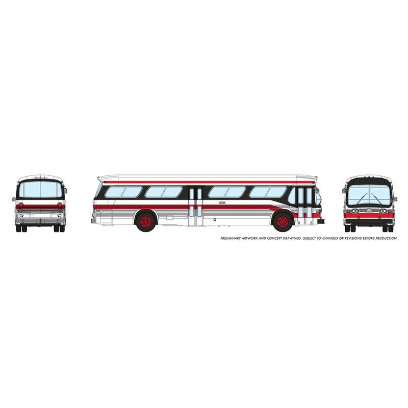 N 1/160 New Look Bus - Toronto (Red/Black)