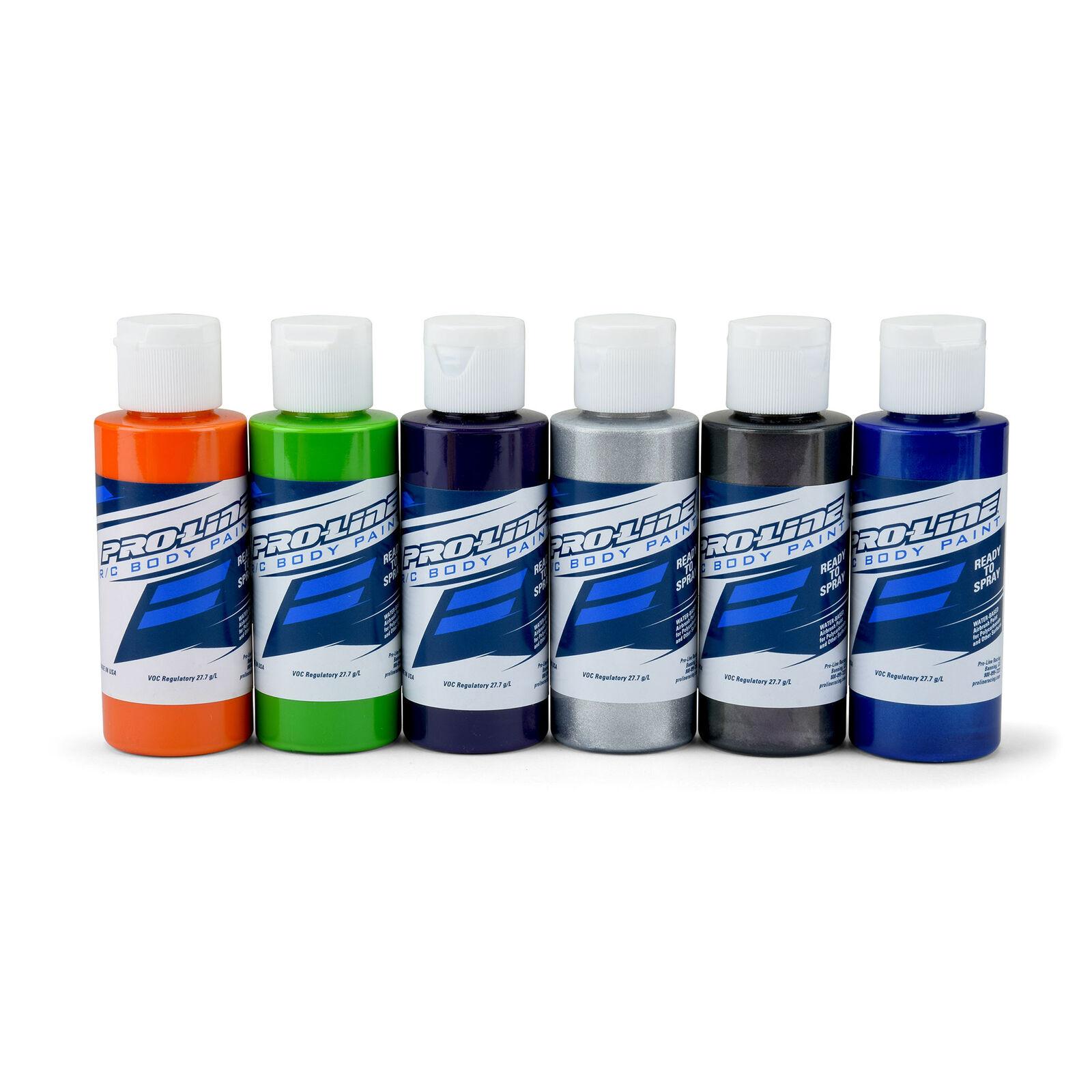 RC Paint Secondary Colors, Orange/Green/Purple/Alum/Charc/Pearl Blue