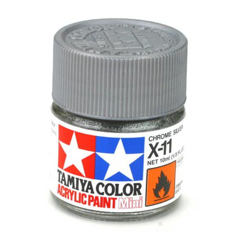 Acrylic Mini X11, Chrome Silver