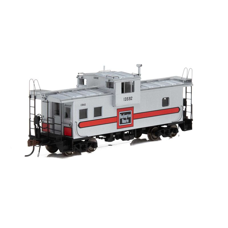 HO ICC Caboose with Lights CB&Q #13592
