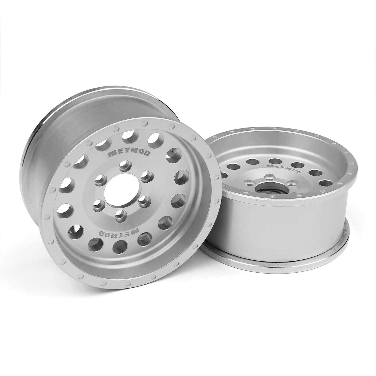 1/10 Incision Method MR307 1.9 Crawler Wheels, 12mm Hex, Clear Anodized (2)