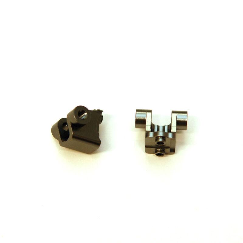 Aluminum Rear Lower Shock Mount (1pr), Gun Metal: TRX-4