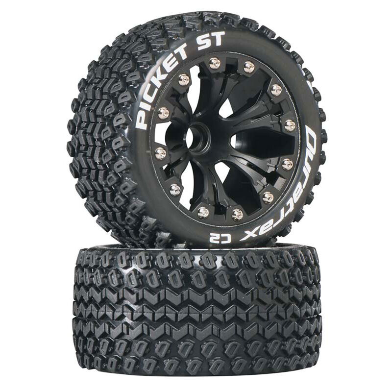"Picket ST 2.8"" 2WD Mounted Front C2 Tires, Black (2)"