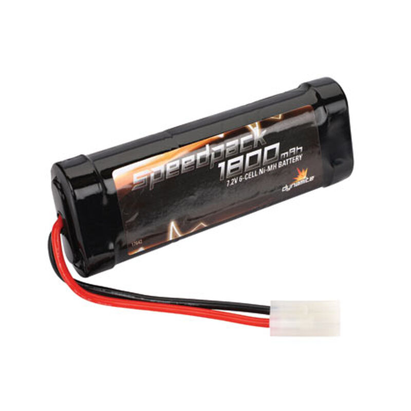 7.2V 1800mAh 6-Cell Speedpack Flat NiMH Battery: Tamiya Connector