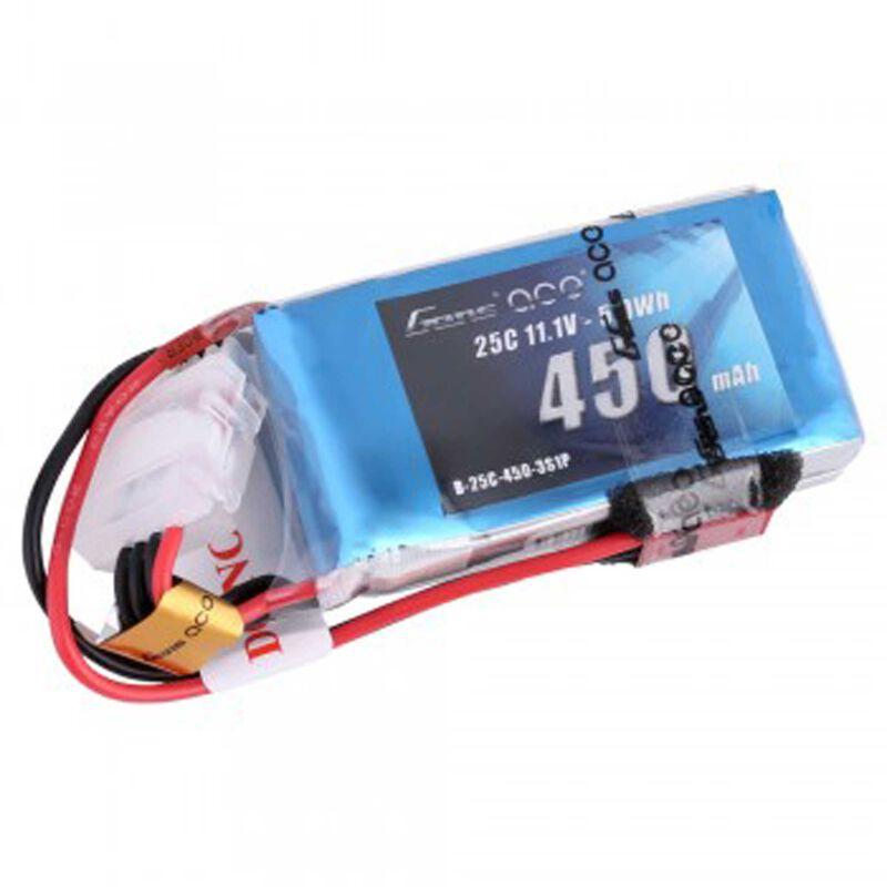 11.1V 450 Capacity 3S Voltage 25C Rate JST