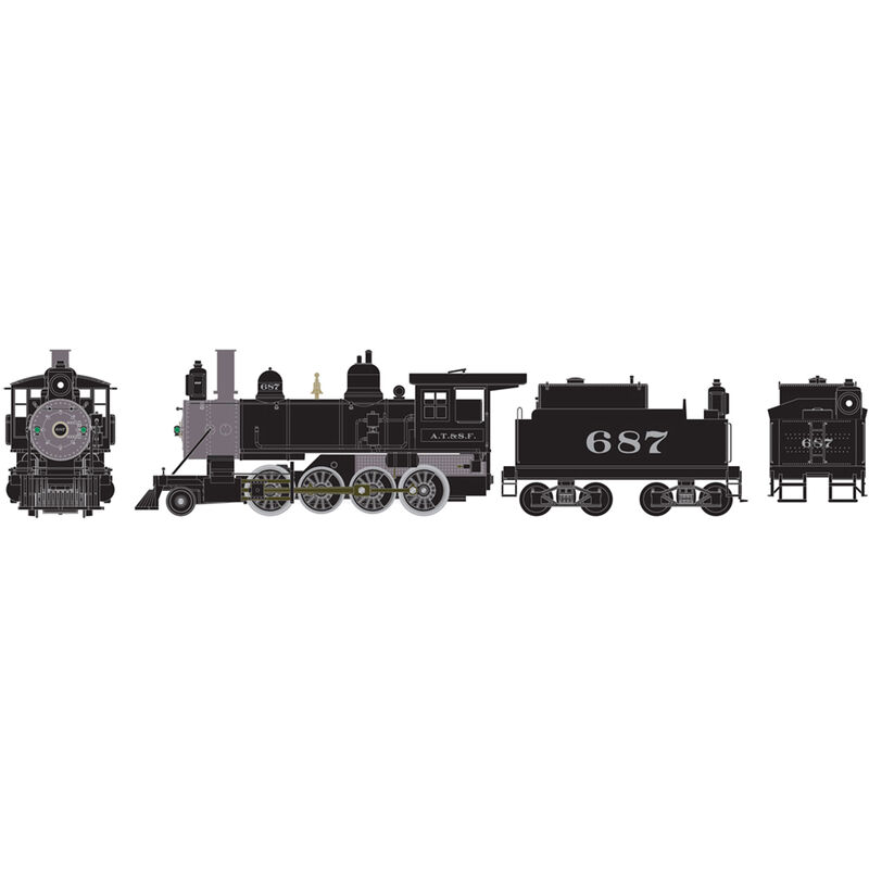 HO RTR Old Time 2-8-0 SF #687