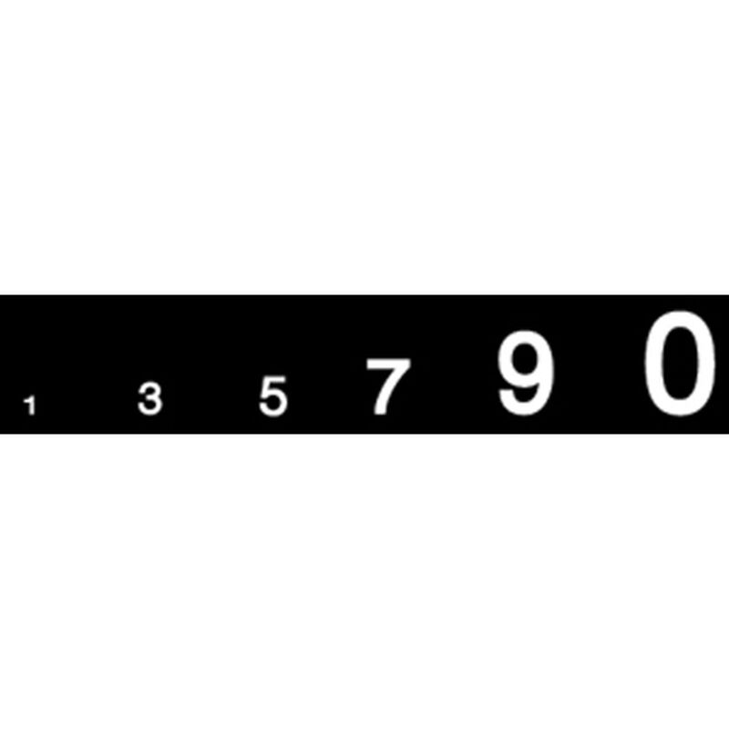 Gothic Numbers, White