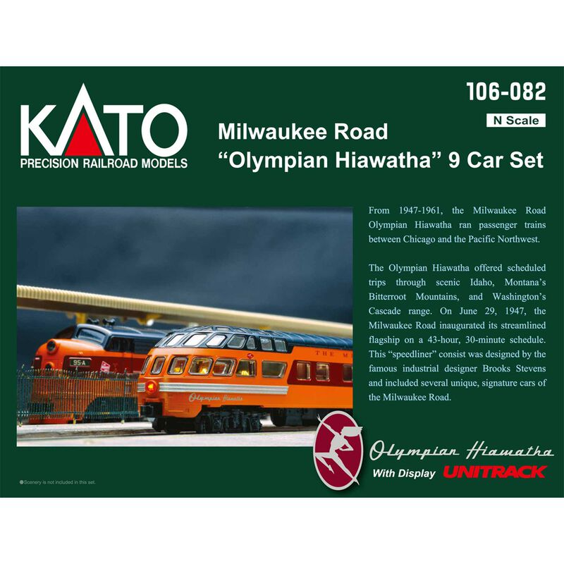 N Passenger Car Set MILW Hiawatha (9)