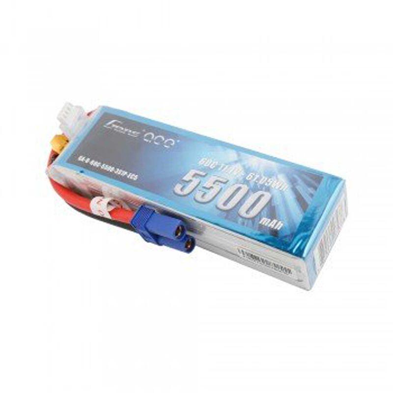 11.1V 5500 Capacity 3S Voltage 60C LiPo, EC5