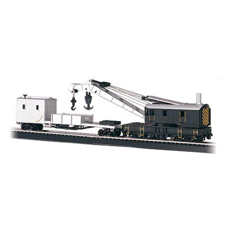 HO 250-Ton Crane w/Boom Tender, Black & Silver