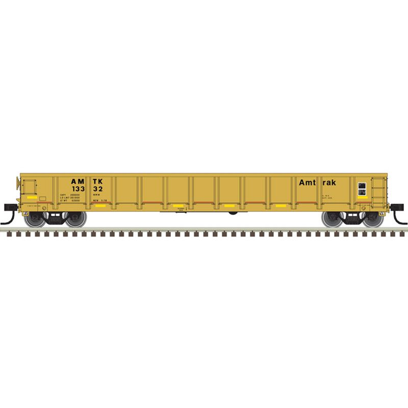 HO Evans Gondola Amtrak+ Orange/Black Faded #13382
