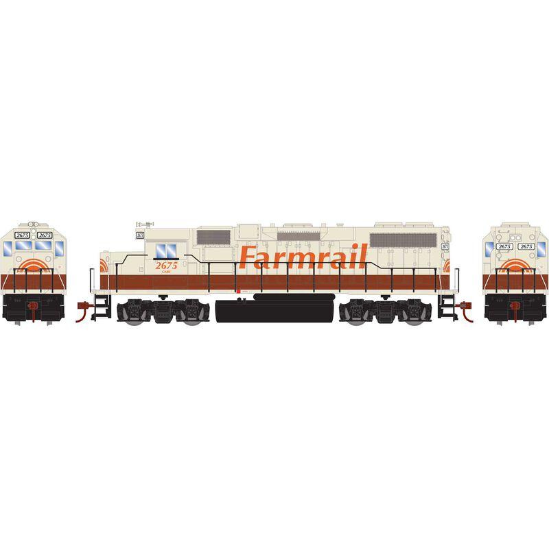 HO GP38-2 with DCC Decoder GNBC Farmrail #2675