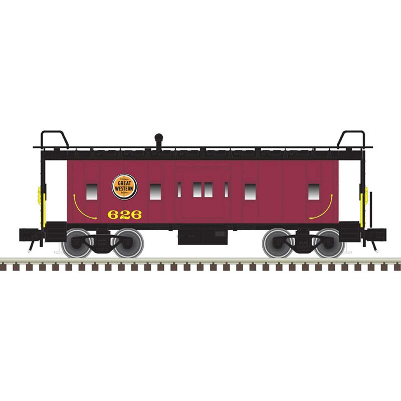 O Bay Window Caboose Chicago Great Western 626 629