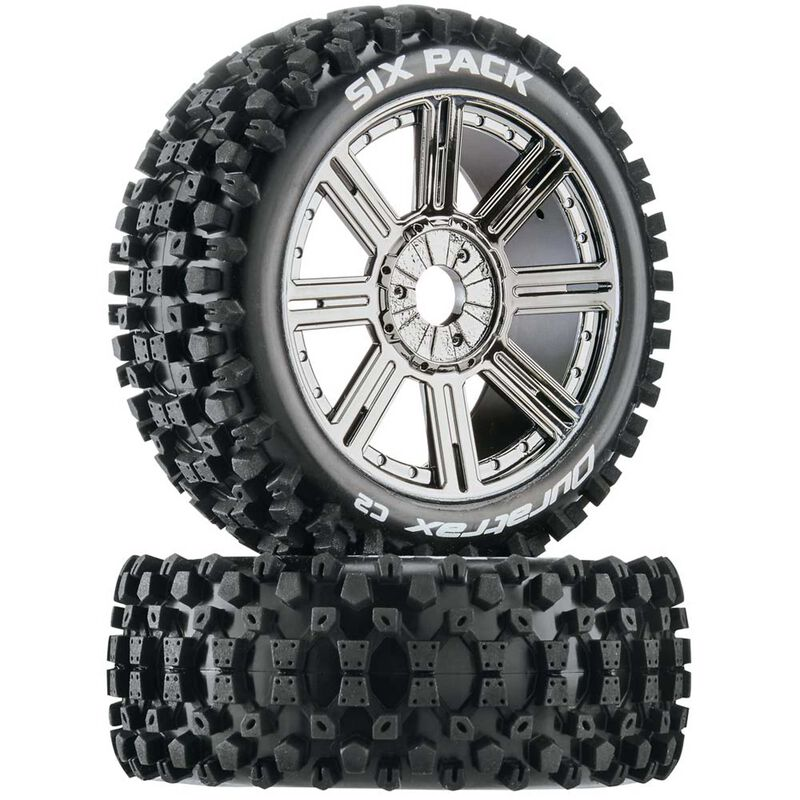 Six-Pack C2 Mounted Buggy Spoke Tires, Chrome (2)