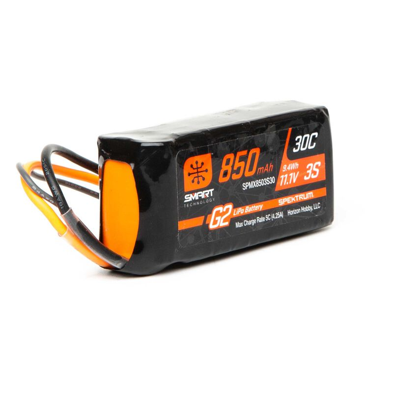 11.1V 850mAh 3S 30C Smart LiPo Battery G2: IC2