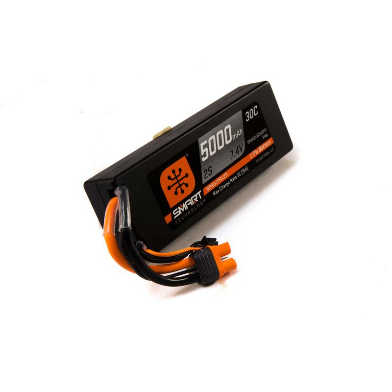 7.4V 5000mAh 2S 30C Smart LiPo Hardcase Battery: IC3