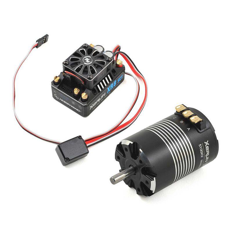 XR8 SCT Pro 140A 4S ESC, 550SD 5100Kv 4-pole Sensored Motor Combo