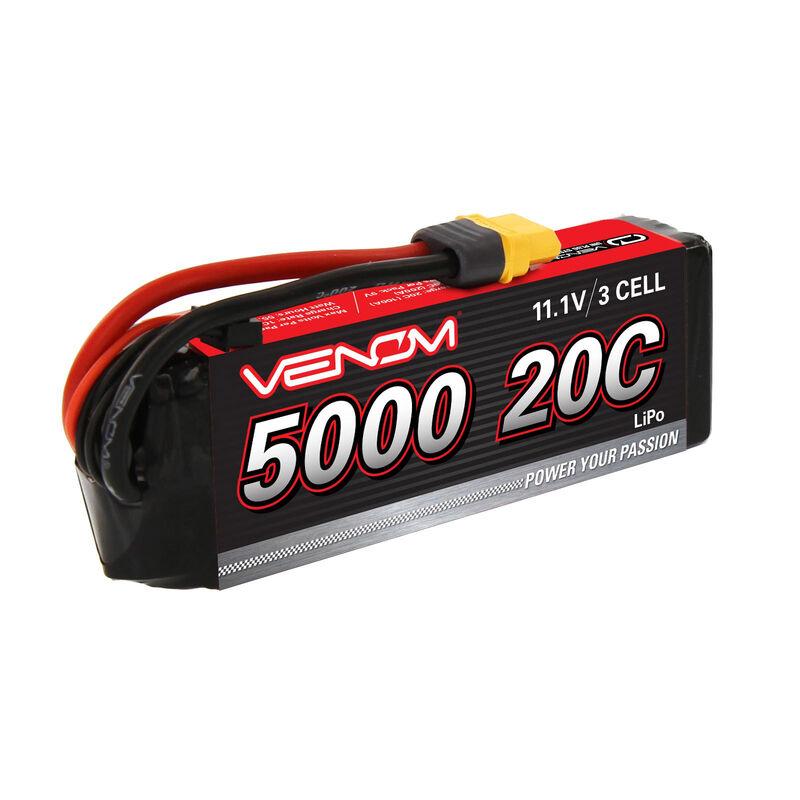11.1V 5000mAh 3S 20C DRIVE LiPo Battery: UNI 2.0 Plug
