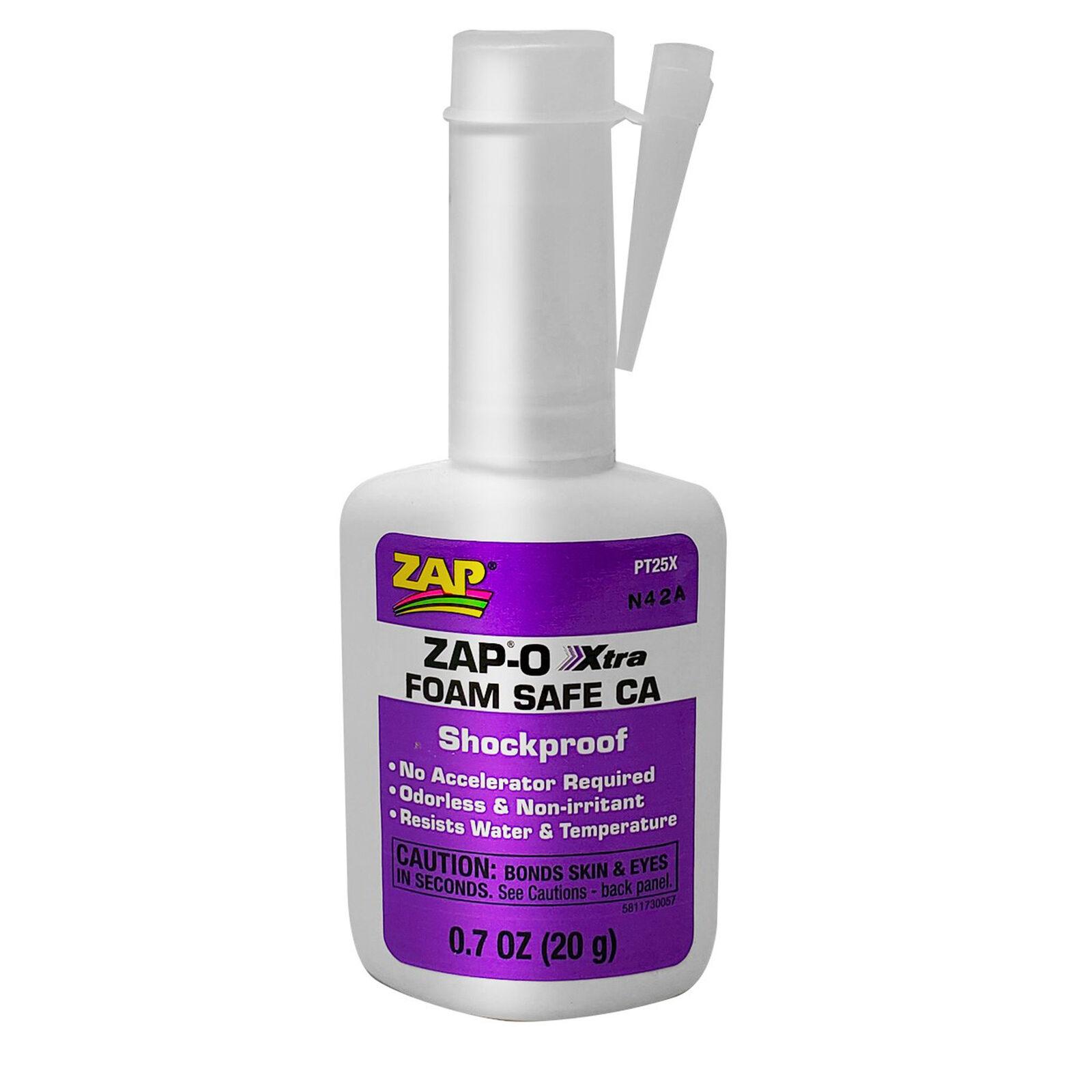 Zap-O Xtra Foam Safe CA Glue, .7 oz